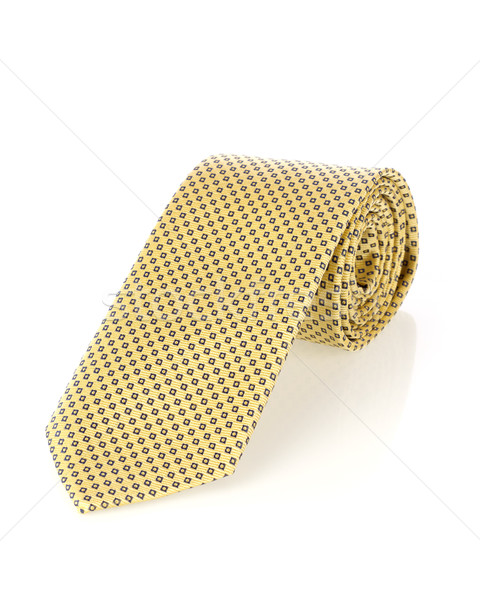 黄色 ネクタイ 孤立した 白 スーツ ギフト ストックフォト © goir