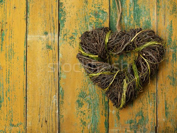 сердце старые свадьба любви Сток-фото © goir