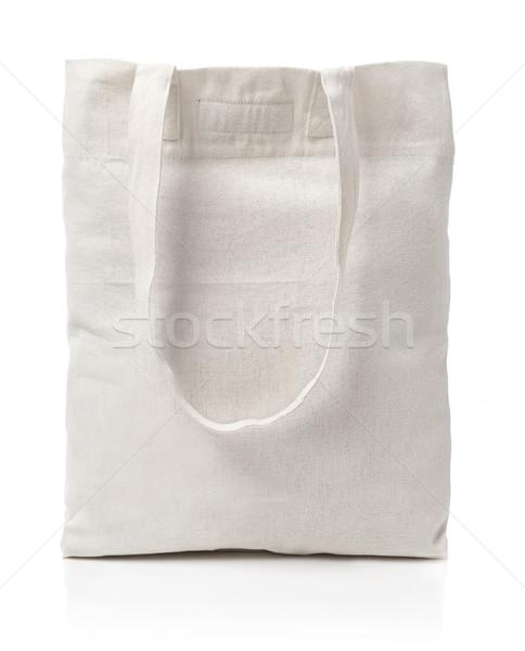 хлопка холст сумку изолированный белый моде Сток-фото © goir
