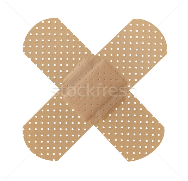 Stock photo: Cross adhesive bandage