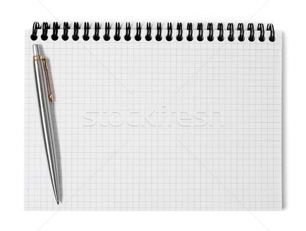 Ring pen papier onderwijs notebook schone Stockfoto © goir