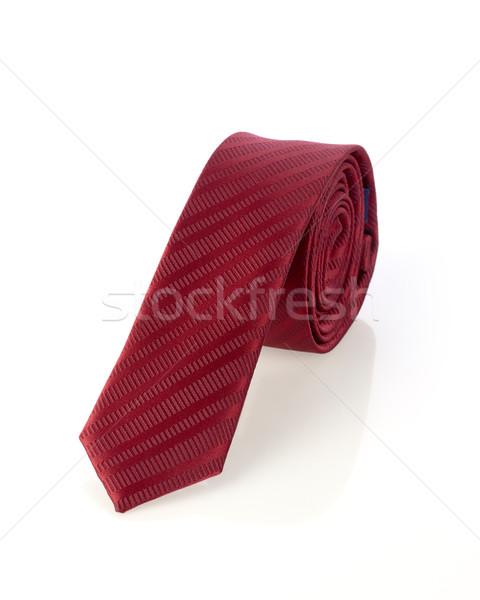 Cou cravate isolé blanche costume cadeau Photo stock © goir