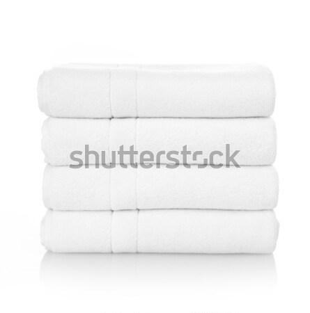 ストックフォト: 白 · タオル · クリーン · 孤立した · 病院 · ホテル