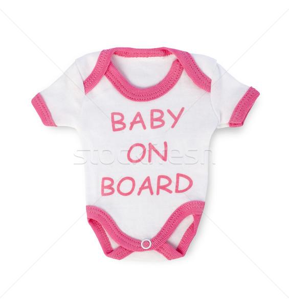 赤ちゃん ボード 孤立した 白 子 洗濯 ストックフォト © goir