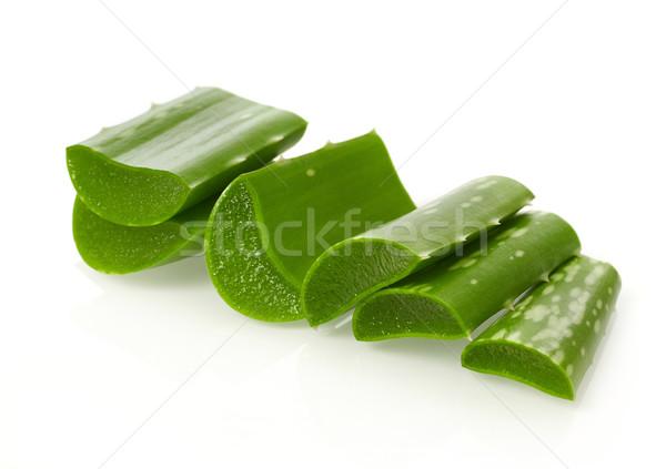 Aloë geïsoleerd witte voedsel blad plant Stockfoto © goir