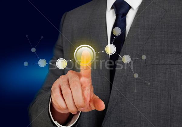 Réseau affaires marketing données bouton choix Photo stock © goir