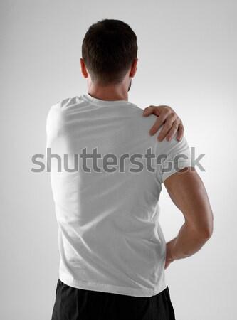 Mal di schiena uomo indietro grigio corpo Foto d'archivio © goir