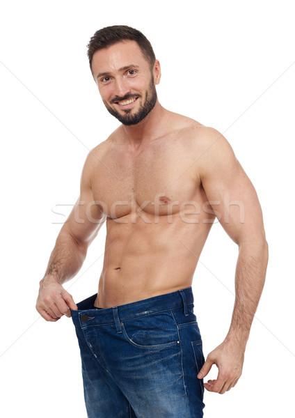 Fit muscular man Stock photo © goir