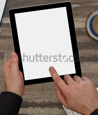 Man digitale tablet kantoor mannen Stockfoto © goir