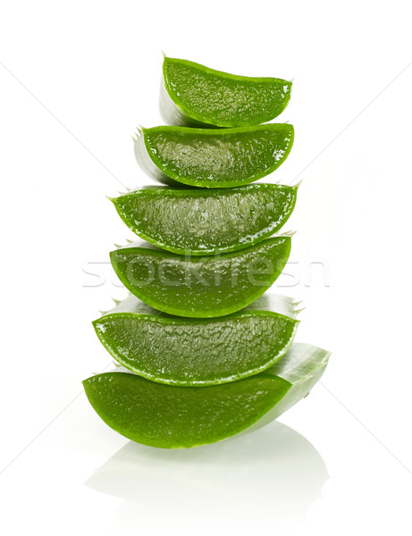Photo stock: Aloe · isolé · blanche · alimentaire · nature