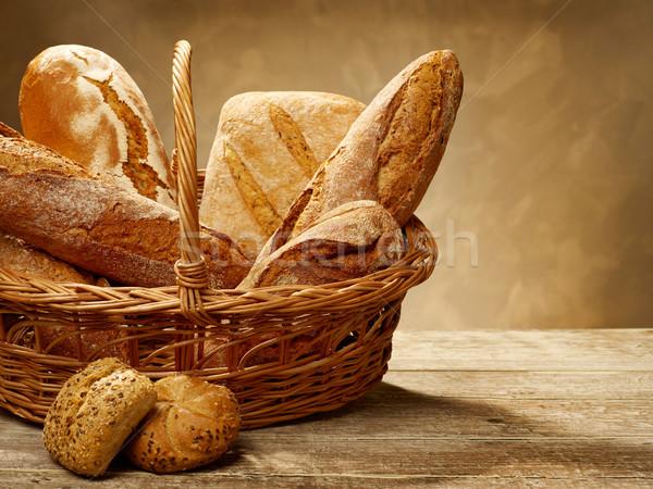 Bread still life Stock photo © goir