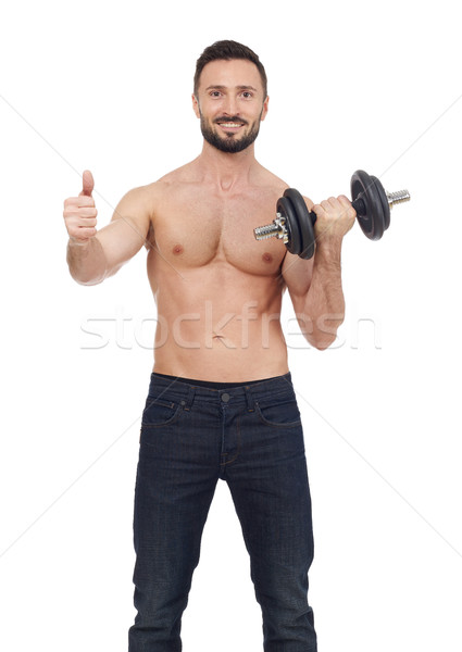 Man lifting weights Stock photo © goir