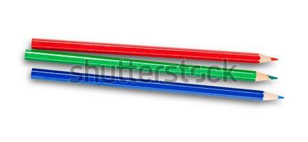 RGB pencils isolated on white Stock photo © goir
