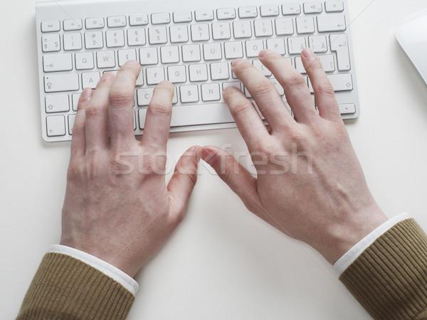 набрав человека бизнеса компьютер менеджера Сток-фото © goir