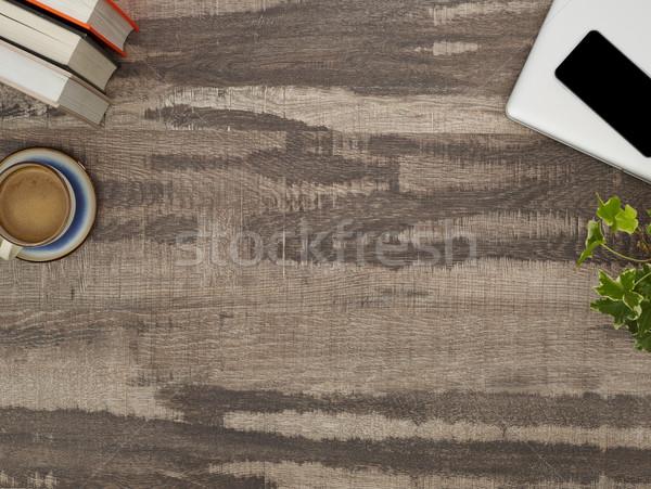 Dolgozik asztal közvetlenül fölött kilátás copy space Stock fotó © goir