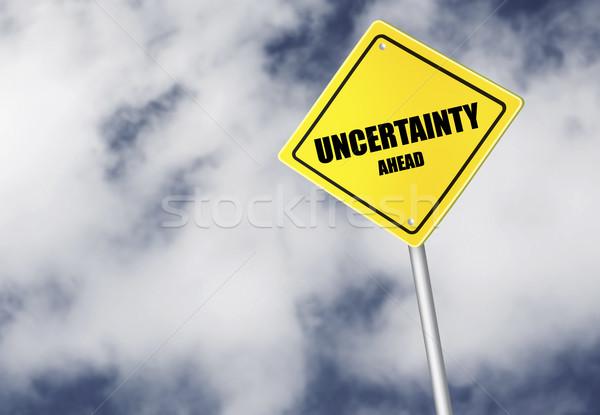 Unsicherheit vor Zeichen Himmel Wolke dunkel Stock foto © goir