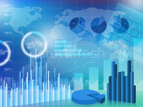 Affaires graphique technologie Finance succès horizons Photo stock © goir