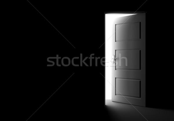 方法 外に オープンドア 暗い ルーム 光 ストックフォト © goir