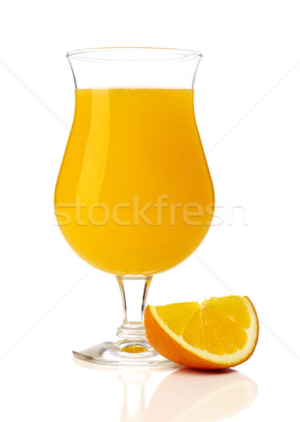 Jugo de naranja rodaja de naranja aislado blanco verano alcohol Foto stock © goir