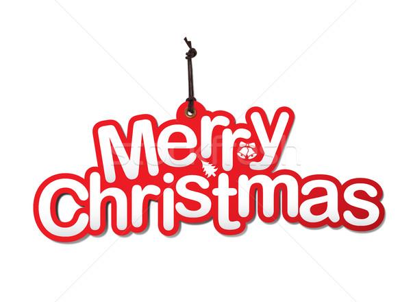 Natal decoração isolado branco papel assinar Foto stock © goir