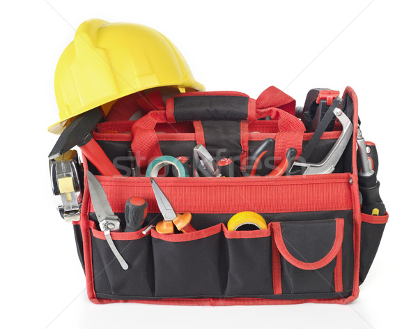Toolbox and hardhat Stock photo © goir