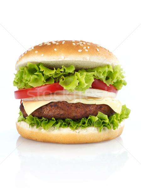 чизбургер изолированный белый томатный Burger еды Сток-фото © goir