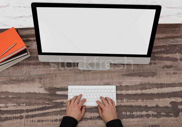 Designer on computer Stock photo © goir