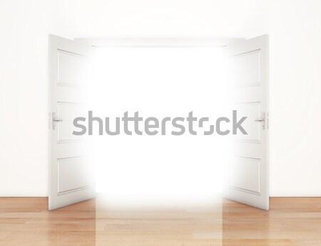 Photo stock: Ouvrir · portes · porte · ouverte · lumière · maison · porte