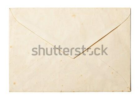 Eenvoudige fotolijstje witte hout frame Geel Stockfoto © goir