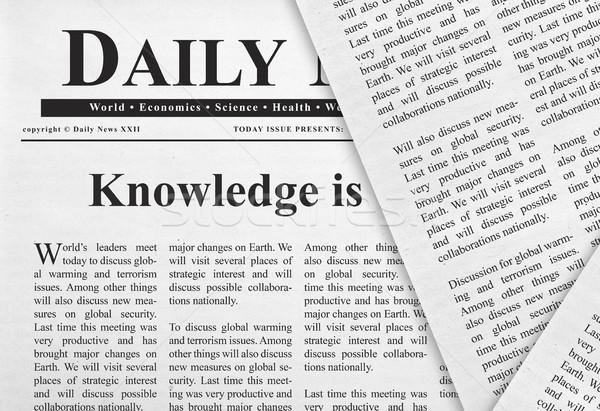 知識 見出し 新聞 通信 読む 学習 ストックフォト © goir
