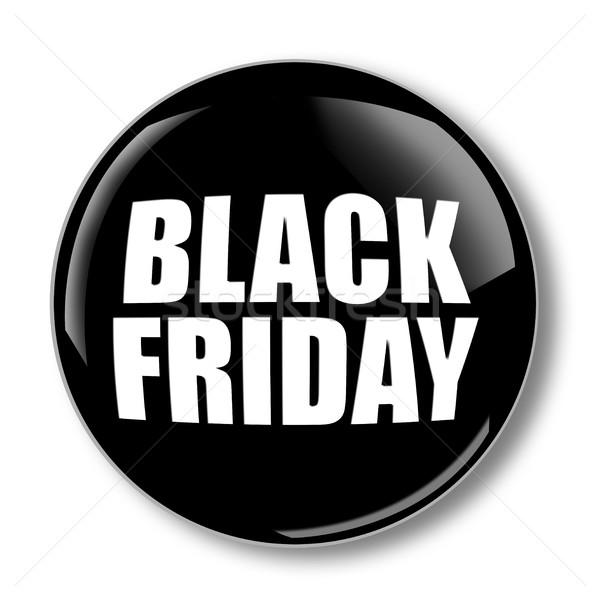 Black friday bannière isolé blanche signe marketing Photo stock © goir