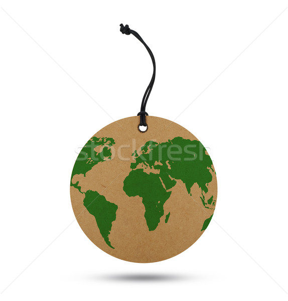 Mappa del mondo etichetta isolato bianco riferimento mappa Foto d'archivio © goir