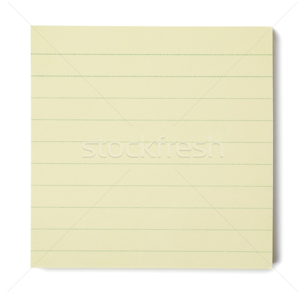 Note jaune notepad blanche papier éducation Photo stock © goir