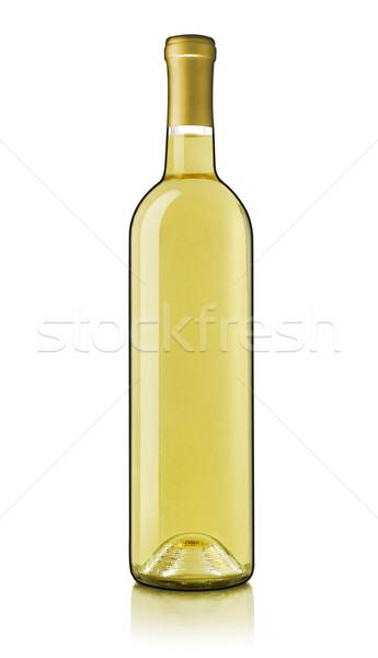 Bouteille de vin bouteille de vin blanc blanche alcool photographie isolé Photo stock © goir