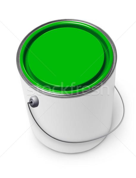Festékes flakon izolált fehér konténer konzerv tervez Stock fotó © goir