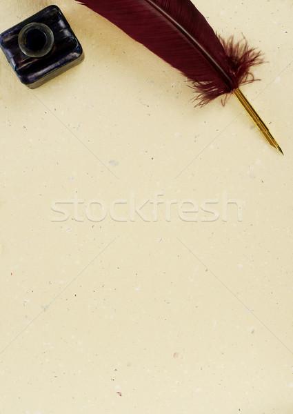 El yazması mürekkep iyi eğitim yazı tüy Stok fotoğraf © goir