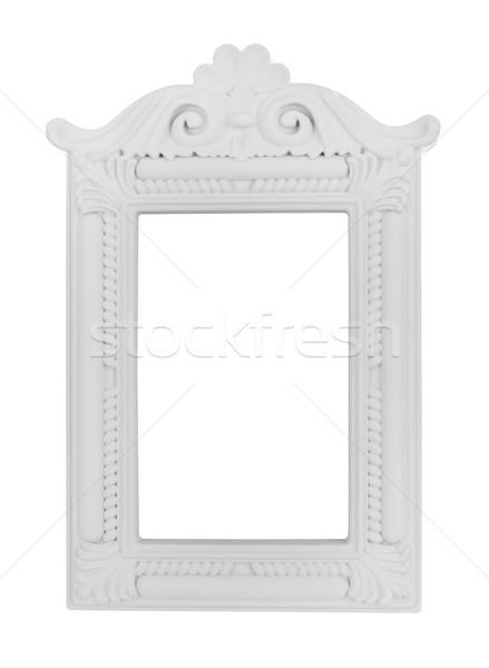 Vintage cadre blanche cadre photo luxe décoration Photo stock © goir