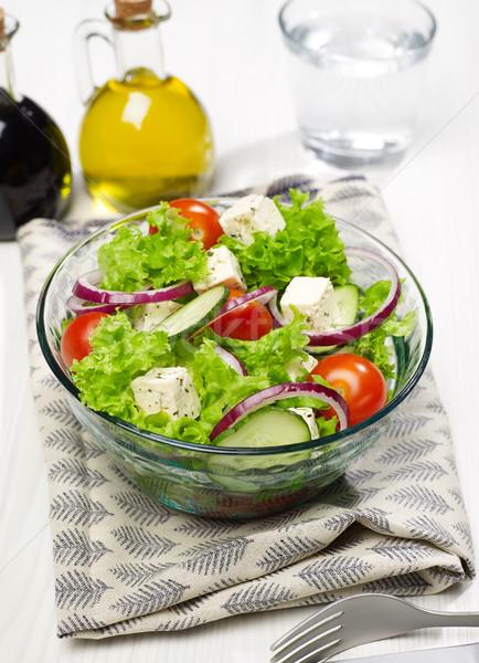 Fresh salad bowl in the kitchen Stock photo © goir