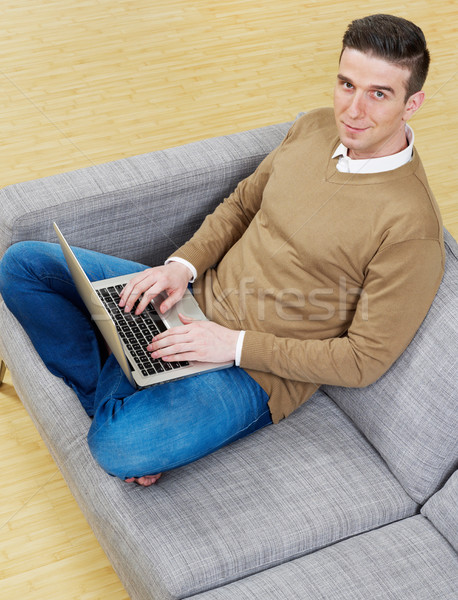 Man with laptop Stock photo © goir
