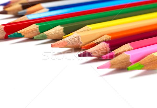 Crayons blanche bois crayon Photo stock © goir