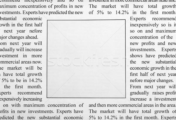 Stock photo: Newspaper ad