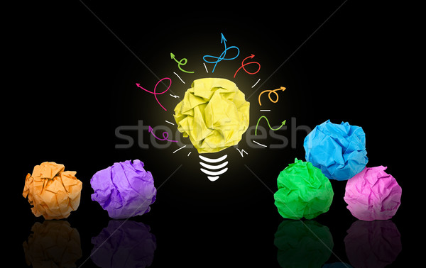лучший Идея бумаги мяча лампочка другой Сток-фото © goir