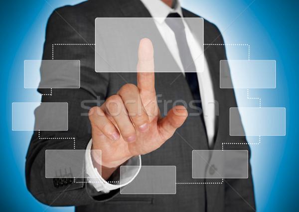 érintőképernyő technológia üzletember multimédia választás mutat Stock fotó © goir