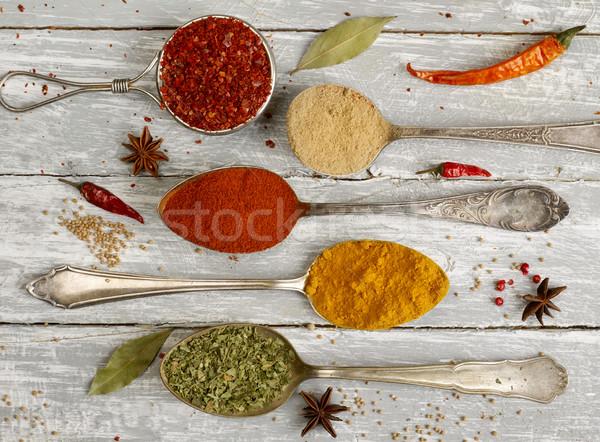 Kanalak fűszerek variáció fa fotózás választás Stock fotó © goir
