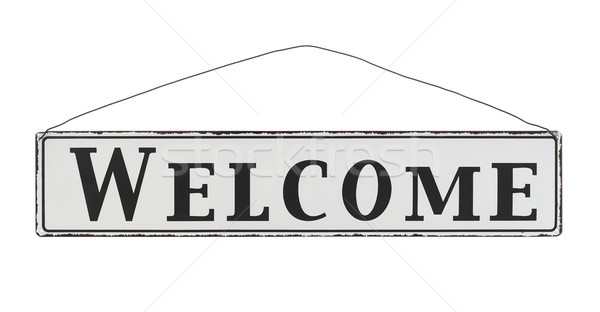 Welcome sign Stock photo © goir