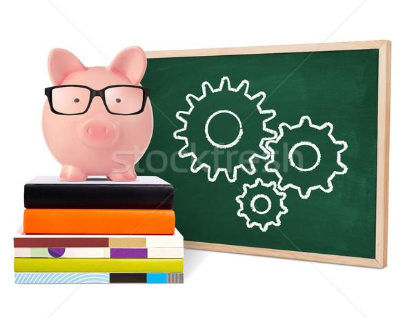 学習 貯金 黒板 孤立した 白 教育 ストックフォト © goir