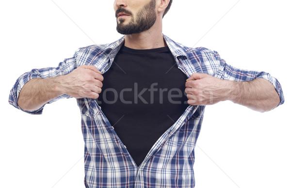Super ragazzo uomo gonna bianco shirt Foto d'archivio © goir