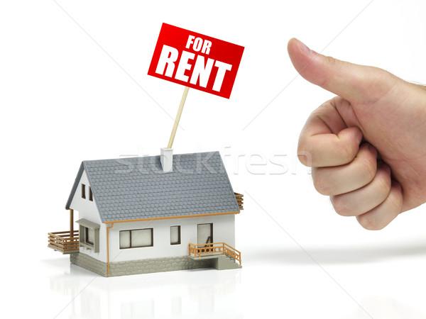 Casa alugar modelo assinar branco mansão Foto stock © goir