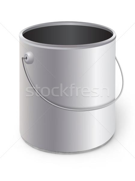 Festékes flakon konténer konzerv tervez dekoráció izolált Stock fotó © goir