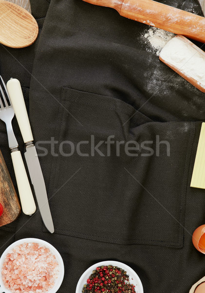 Photo stock: Ingrédients · espace · de · copie · alimentaire · feuille